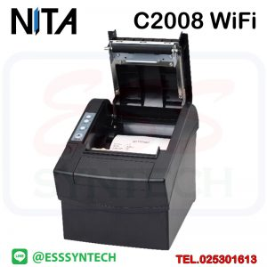 เครื่องพิมพ์ใบเสร็จไร้สาย ไวไฟ NITA C2008 Xprinter WiFi wireless printer POS 80mm direct thermal receipt bill slip USB 80mm USB 3 นิ้ว ราคาถูก ระบบความร้อนไม่ใช้หมึก