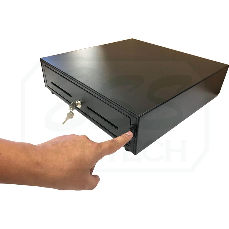 NITA ECH410 ลิ้นชักเก็บเงินแบบกดปุ่ม มีเสียงกริ่ง อุปกรณ์ขายหน้าร้าน กล่องเก็บเงิน ไม่ต้องต่อสายไฟ