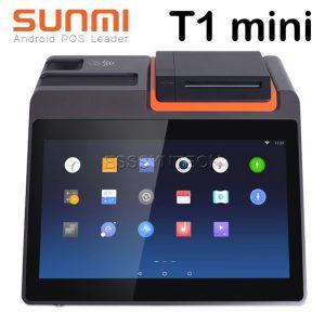 เครื่องขายหน้าร้านระบบแอนดรอยด์ มีเครื่องพิมพ์ใบเสร็จในตัว ขนาด 3 นิ้ว หน้าจอขนาด 11.6 นิ้ว ระบบขายหน้าร้านแบบครบวงจร Sunmi T1 mini Smart All in one Android 7.1 POS Point of sale System terminal cashier Built in 80mm Auto Cutter Printer touch screen 11.6 inch Bluetooth WiFi LAN Loyverse
