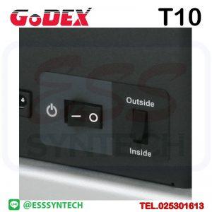 เครื่องกรอสติกเกอร์ เครื่องม้วนสติกเกอร์อัตโนมัติ เครื่องม้วนเก็บสติ๊กเกอร์ Godex T10 Sticker Label Rewinder