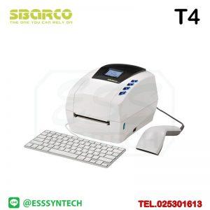 เครื่องพิมพ์บาร์โค้ด เครื่องพิมพ์ฉลาก เครื่องปริ้นสติกเกอร์ เครื่องพิมพ์บาร์โค้ด ราคาถูก เครื่องปริ้นบาร์โค้ด เครื่องพิมพ์ฉลากสินค้า ปริ้นบาร์โค้ด barcode printer Label Printers sticker printer direct thermal printer ribbon Labels printing label printer for shipping label printer address Desktop wristband Sbarco T4