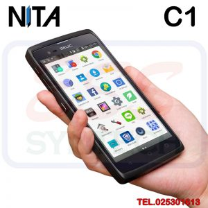 NITA C1 Handheld Android Mobile มีหัวอ่านบาร์โค้ดในตัว สำหรับงานคลังสินค้า