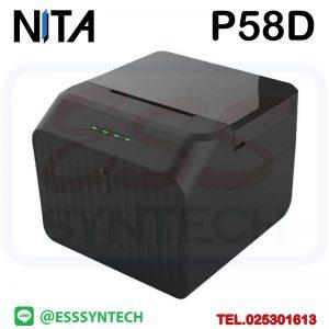 เครื่องพิมพ์ใบเสร็จไร้สาย ขนาดเล็ก NITA P58D Slip Printer Bluetooth Printer รองรับ Android Loyverse POS ไม่ใช้หมึก ระบบความร้อน ราคาถูก บลูทูช 2 นิ้ว 58mm 57mm รองรับ Android Loyverse POS Direct thermal Receipt Printer