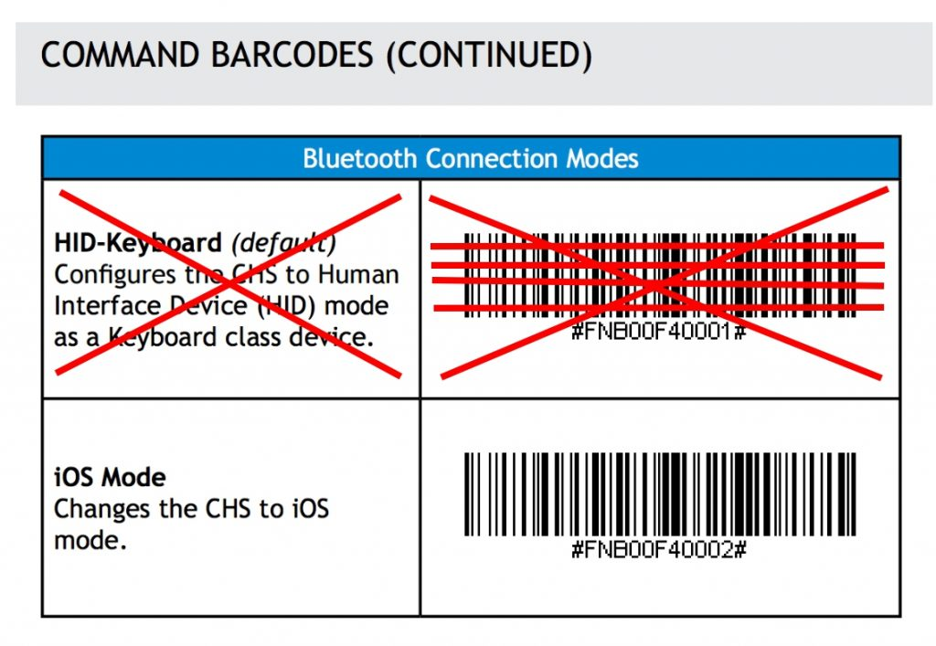 Barcode Setup Connect Apple iOS device in Application Mode for Store Hub