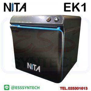 เครื่องพิมพ์ใบเสร็จ Wifi ราคาถูก NITA EK1 ระบบความร้อนไม่ใช้หมึก พิมพ์ไร้สายผ่านไวไฟ มีคัทเตอร์ ตัดกระดาษอัตโนมัติ ขนาด 3 นิ้ว 80mm รองรับ Android iOS Loyverse Ocha POS