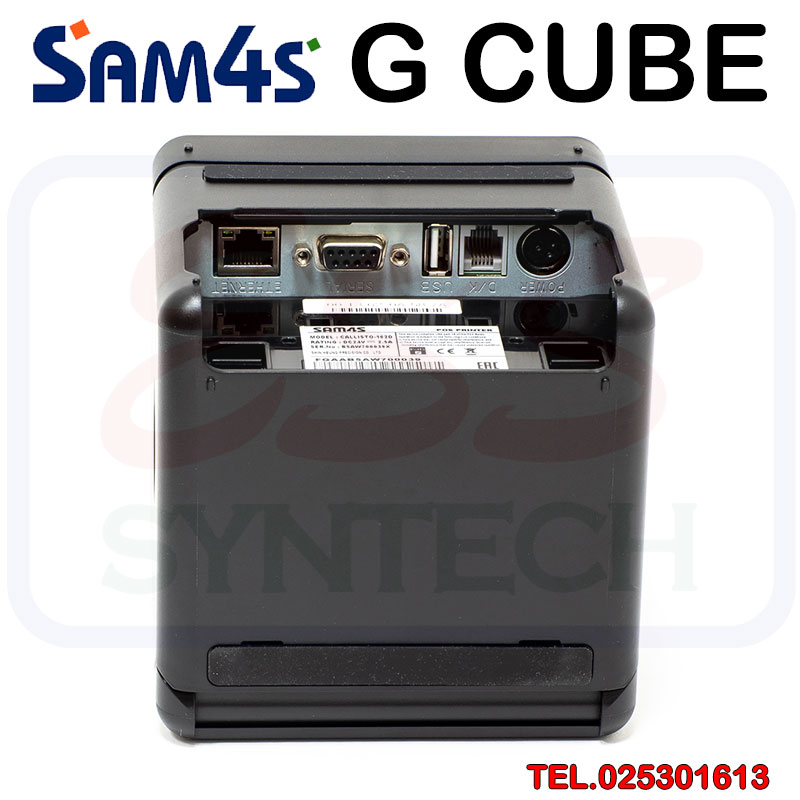 SAM4S GCUBE เครื่องพิมพ์ใบเสร็จ ราคาถูก ระบบความร้อนไม่ใช้หมึก NFC มีคัทเตอร์ ตัดกระดาษอัตโนมัติ ขนาด 3 นิ้ว 80mm สายแลน รองรับ Android iOS Loyverse POS กันน้ำ Receipt Printer Thermal Ethernet lan usb waterproof