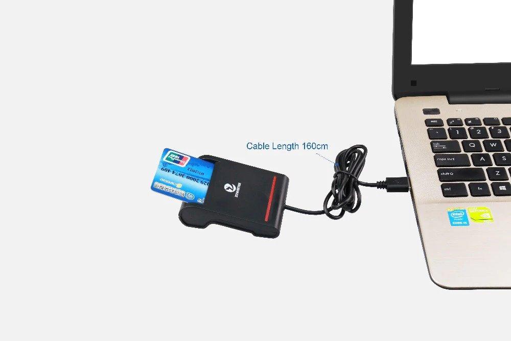 เครื่องอ่านบัตรประชาชน อ่านบัตรประชาชน เครื่องอ่านบัตรสมาร์ทการ์ด บัตรประชาชน Zoweetek ZW-12026-2 USB กรมการปกครอง Smart Card Reader เครื่องสแกนบัตรประชาชน เครื่องเสียบบัตรประชาชน