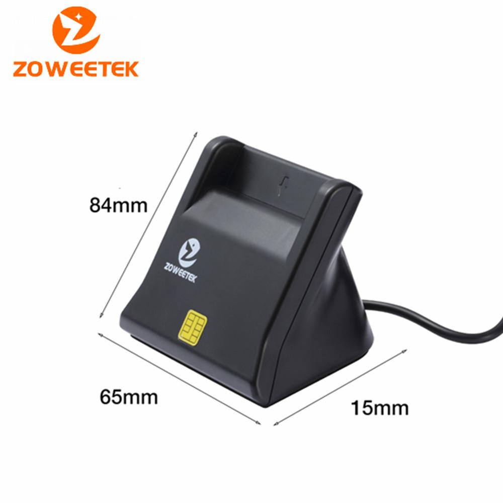 เครื่องอ่านบัตรประชาชน อ่านบัตรประชาชน เครื่องอ่านบัตรสมาร์ทการ์ด บัตรประชาชน Zoweetek ZW-12026-3 USB กรมการปกครอง Smart Card Reader เครื่องสแกนบัตรประชาชน เครื่องเสียบบัตรประชาชน