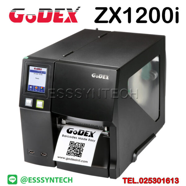 Godex-ZX1200i-ZX-1200i-Barcode-Printer-Label-Sticker-Industrail-Thermal-Transfer-Direct-Thermal-Speed-10-inches-per-second-1