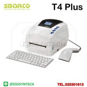 เครื่องพิมพ์ต่อเครื่องชั่ง เครื่องพิมพ์ต่อเครื่องชั่งดิจิตอล เครื่องพิมพ์ต่อเครื่องชั่งน้ำหนัก Sbarco T4+ T4 Plus ปริ้นบาร์โค้ด ปริ้นฉลากสติกเกอร์