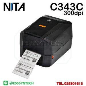 เครื่องปริ้นสติกเกอร์ เครื่องพิมพ์บาร์โค้ด เครื่องพิมพ์ฉลาก เครื่องพิมพ์บาร์โค้ด ราคาถูก เครื่องปริ้นบาร์โค้ด เครื่องพิมพ์ฉลากสินค้า ปริ้นบาร์โค้ด barcode printer Label Printers sticker printer direct thermal printer ribbon Labels printing label printer for shipping label printer address Desktop wristband NITA Wincode C343C 300dpi