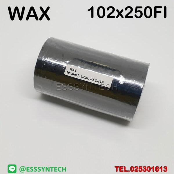 ribbon Wax Ribbon 102mmx250M size 102×250 Face In 1 inch