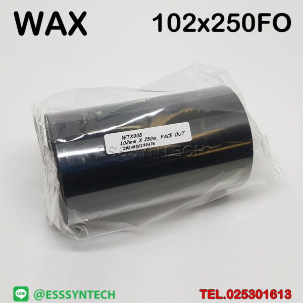 ribbon Wax Ribbon 102mmx250M size 102×250 Face Out 1 inch