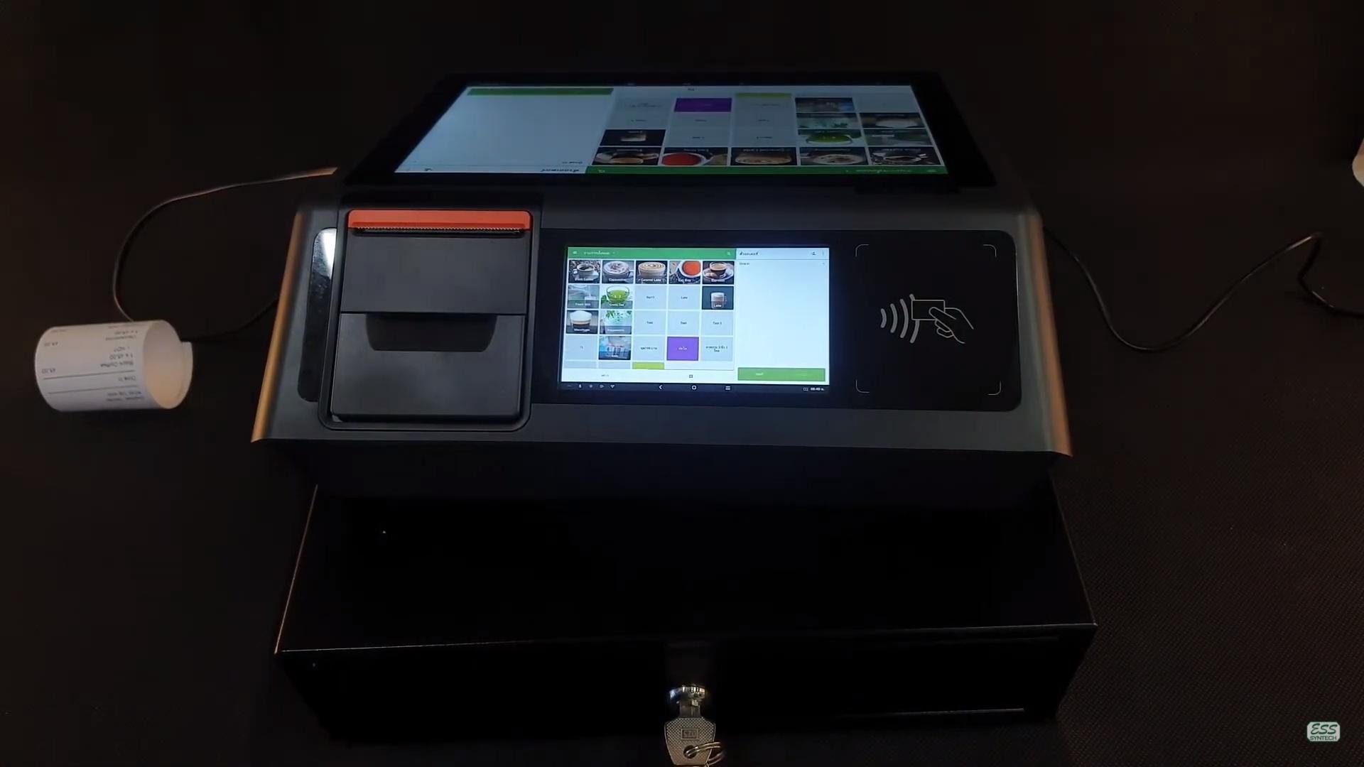 Sunmi D2 mini android 8.0 เครื่องคิดเงิน pos desktop sim card 4g ใส่ซิมได้ มีจอหลัง ดีไซน์สวย ราคาประหยัด