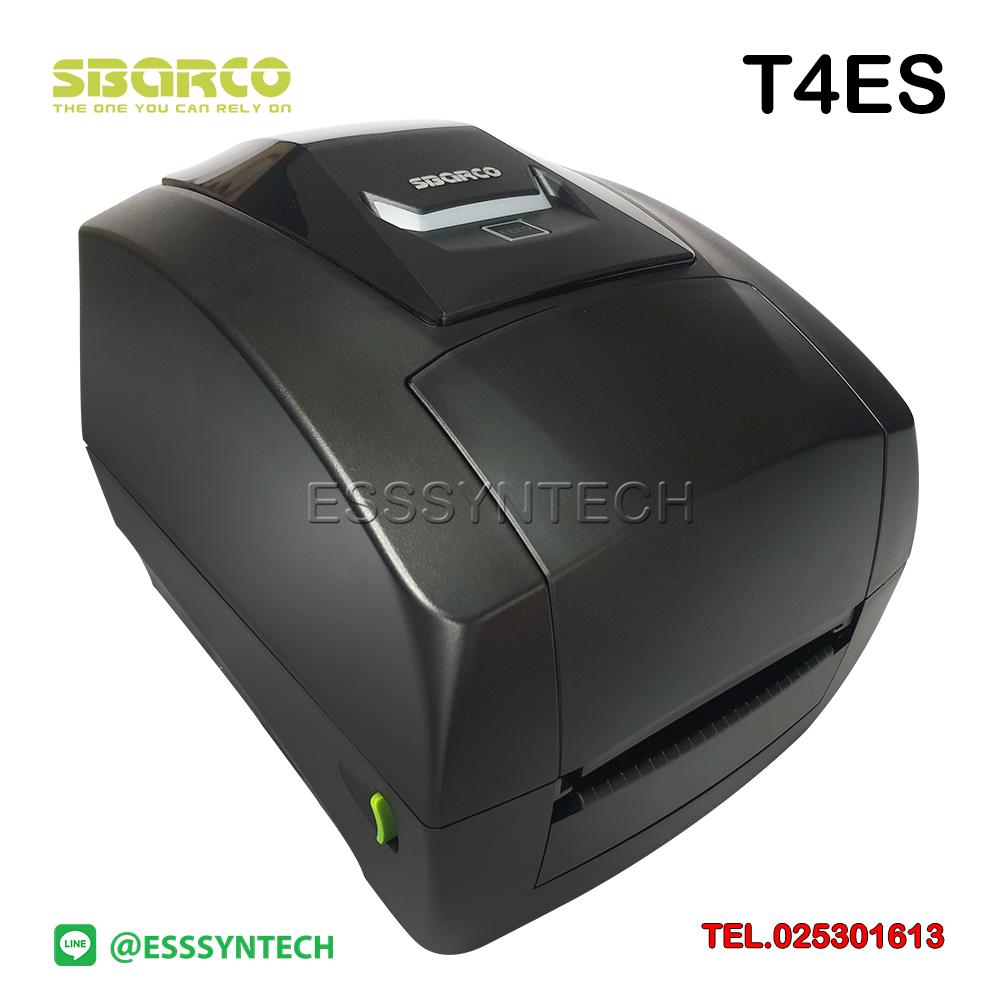 เครื่องพิมพ์ฉลากสินค้า Sbarco T4ES เครื่องปริ้นสติกเกอร์ ราคาถูก เครื่องพิมพ์บาร์โค้ดพร้อมโปรแกรม 203 dpi Desktop Sticker label printer