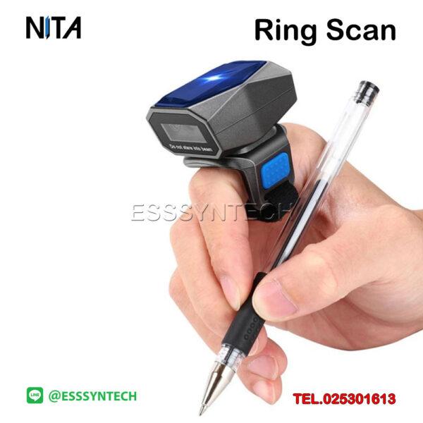 เครื่องยิงบาร์โค้ดแบบสวมนิ้ว-Ring-Scanner-ไร้สาย-Bluetooth-เชื่อมต่อแบบ-3-in-1-ต่อมือถือต่อโทรศัพท์ได้