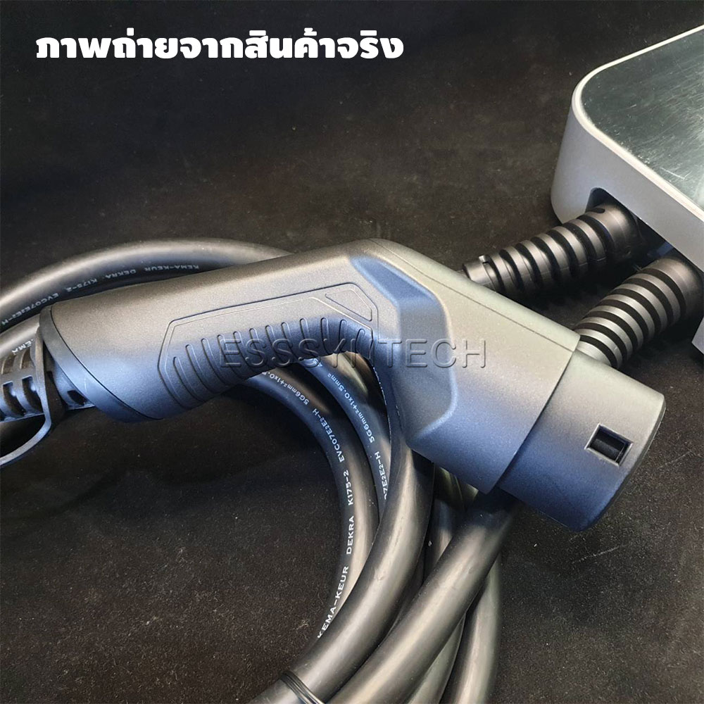EV Charger Wallbox เครื่องชาร์จรถไฟฟ้าติดผนัง Type 2 32A 3 Phase มี Tag RFID IEC 62196-2
