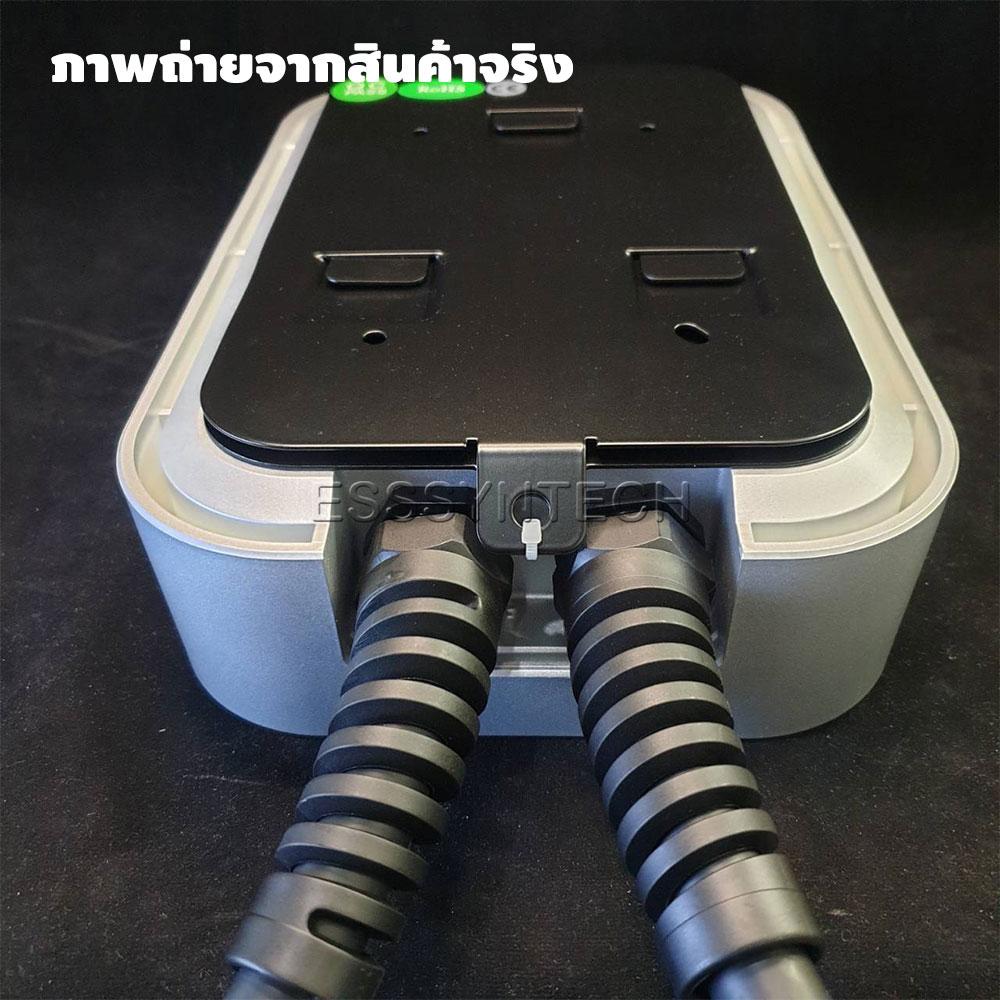 เครื่องชาร์จรถไฟฟ้า ติดผนังขนาด 7.4–22 KW หัวชาร์จ Type 2 IEC 62196-2 ไฟ 32A 3 Phase พร้อม Tag RFID